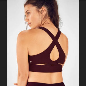 Fabletics Ellie Burgundy High Support Sports Bra M